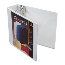 Cardinal Brands - 10600 - SuperStrength ClearVue Locking Slant-D Ring Binder, 3 Cap, 11 x 8 1/2, White