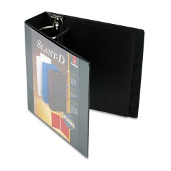 Cardinal Brands - 10601 - SuperStrength ClearVue Locking Slant-D Ring Binder, 3 Cap, 11 x 8 1/2, Black