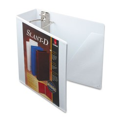 Cardinal Brands - 10800 - SuperStrength ClearVue Locking Slant-D Ring Binder, 4 Cap, 11 x 8 1/2, White