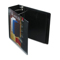 Cardinal Brands - 10801 - SuperStrength ClearVue Locking Slant-D Ring Binder, 4 Cap, 11 x 8 1/2, Black