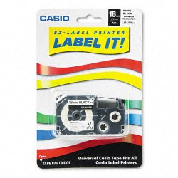 Casio - XR118BKS - Casio Iron-On Transfer Tape - 0.71 Width - 1 / Pack - White