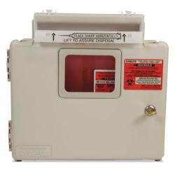 Covidien - SWMU000609 - Locking Wall Mount Sharps Cabinet System, 5 qt, 13 x 5 x 13, Beige