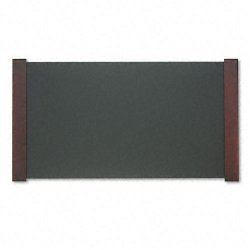 Carver Wood Products - CW02043 - Desk Pad with Wood End Panels, 38 x 21, Mahogany Finish