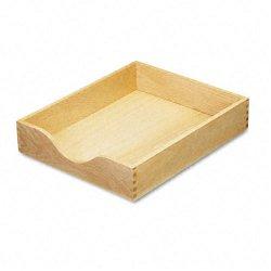Carver Wood Products - CW07211 - Carver Wood Oak Finish Desk Trays - Desktop - Oak - Oak - 1Each