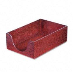 Carver Wood Products - 08223 - Carver Double Deep Wood Desktop Tray - Wood, Felt - Mahogany