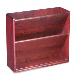 Carver Wood Products - 09623 - Carver Wood Supply Storage Double Wall File - 2 Pocket(s) - 11.8 Height x 13.3 Width x 4.3 Depth - Wall Mountable - Mahogany - Hardwood - 1Each
