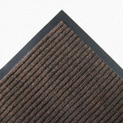 Crown Mats / Ludlow Composites - NR0046BR - Crown Mats Needle-rib Wiper/Scraper Mat - Entryway, Indoor - 72 Length x 48 Width x 0.31 Thickness - Rectangle - Polyethylene Terephthalate (PET) - Brown