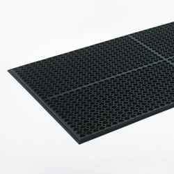 "Crown Mats / Ludlow Composites - WSCT35BK - Crown Mats Safewalk-Light Economical Mat - Industry, Office, Indoor - 60"" Length x 36"" Width - Rectangle - Rubber - Black"