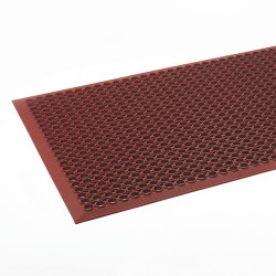 "Crown Mats / Ludlow Composites - WSCT35TC - Crown Mats Safewalk-Light Economical Mat - Office, Indoor - 60"" Length x 36"" Width - Rectangle - Rubber - Terra Cotta"