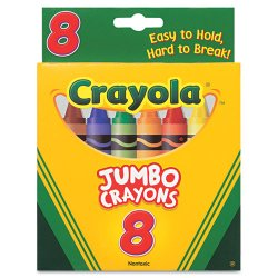 Crayola - 52-0389 - Crayola Jumbo Crayons - Assorted Ink - 8 / Box