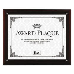 Dax - N15909NT - Award Plaque with Easel, 8 1/2 x 11, Mahogany Frame