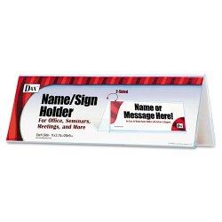 Dax - N2709N4T - 2-Sided Name/Sign Holder, Blank, 11 x 3 1/2 x 4, Clear