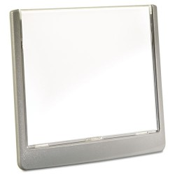 Durable - 4977-23 - Click Sign Holder For Interior Walls, 6 3/4 x 5/8 x 5 1/8, Gray