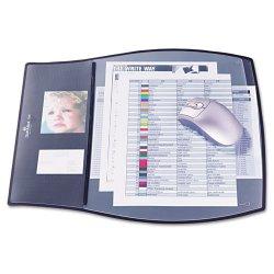 Durable - 720901 - Work Pad, 3 Overlays, 17 1/4 x 15 1/2, Black