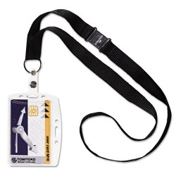 Durable - 826819 - Durable Safety Lanyard Shell-Style ID Card Holder - Horizontal, Vertical - Acrylic - 10 / Box - Clear