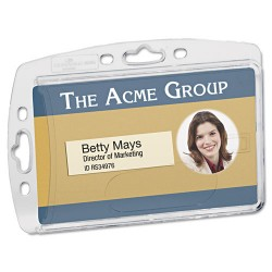 Durable - 890519 - Durable 8005/8012/8268 Replacement ID Card Holders - Horizontal, Vertical - Acrylic - 10 / Box - Clear