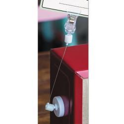 Deflect-O - 20009 - deflecto VersaGrip Magnetic Sign Holder - 7 - Acrylic, Metal - 5 / Bag - Clear