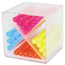 Deflect-O - 350201 - deflecto Plastic Cube Organizer - 6 Height x 6 Width x 6 Depth - Desktop - Clear - Plastic - 1Each