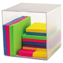 Deflect-O - 350401 - deflecto Plastic Cube Organizer - 6 Height x 6 Width x 6 Depth - Desktop - Clear - Plastic - 1Each