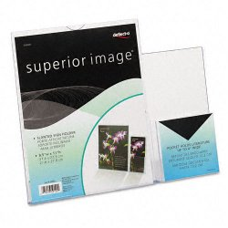Deflect-O - 599401 - Superior Image Sign Holder With Pocket, 13 1/2w x 4 1/4d X 10 7/8h, Clear