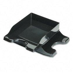Deflect-O - 63904 - deflecto Docutray Multi-Directional Stackg Trays - 2 Tier(s) - 2.5 Height x 10.1 Width x 14 Depth - Desktop - Black - Polystyrene - 2 / Set