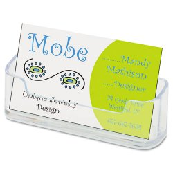 Deflect-O - 70101 - deflecto Desktop Business Card Holders - Plastic - 1 Each - Clear