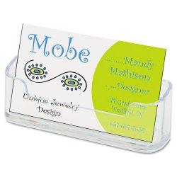 Deflect-O - 70101 - deflecto Desktop Business Card Holders - Plastic - 1 Each - Clear