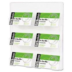 Deflect-O - 70601 - deflecto Wall Mount Business Card Holder - Acrylic - 1 Each - Clear