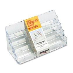 Deflect-O - 70801 - deflecto Desktop Clear Business Card Holder - Acrylic - 1 Each - Clear