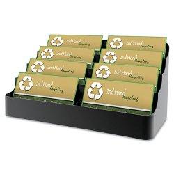 Deflect-O - 90804 - deflecto 4-Tier Business Card Holder - 3.9 x 7.9 x 3.6 - Plastic - 1 Each - Black