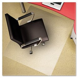 "Deflect-O - CM11242PC - Deflect-o All Pile Rectangular Chair Mat - Carpeted Floor - 53"" Length x 45"" Width x 62.5 mil Thickness - Rectangle - Polycarbonate - Clear"