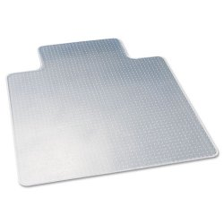 Deflect-O - CM13233 - deflecto Duramat Chairmats - Carpeted Floor - 53 Length x 45 Width - Lip Size 12 Length x 25 Width - Vinyl - Clear