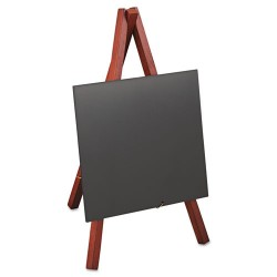 Deflect-O - MINI-M-KR - Wet Erase Signs, 5 7/8 x 5 1/4 x 9 1/2, Mahogany Frame