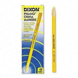 Dixon Ticonderoga - 00073 - Dixon Phano Non-Toxic China Marker - Yellow Lead - 1 Dozen