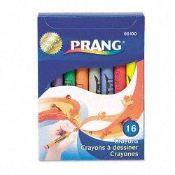 Dixon Ticonderoga - 00100 - Dixon Prang Wax Crayons - Assorted Wax - Assorted Barrel - 16 / Box