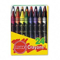 Dixon Ticonderoga - 00400 - Dixon Prang 24 Count Wax Crayons - Assorted Wax - Assorted Barrel - 24 / Box