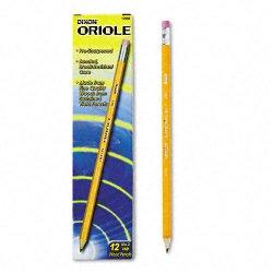 Dixon Ticonderoga - 12886 - Dixon Oriole Presharpened Pencil - #2 Pencil Grade - Yellow Wood Barrel - 1 Dozen