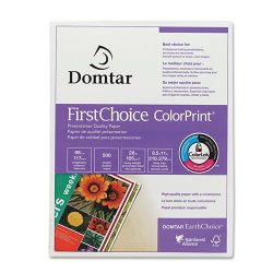 Domtar - 85283 - First Choice ColorPrint - Letter - 8 1/2 x 11 - 28 lb Basis Weight - 500 / Ream - White