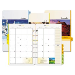 Day-Timer - D13696-1301 - Serenity Two-Page-Per-Month Tabbed Refill, Nature Scene, 8-1/2 x 5-1/2, 2013