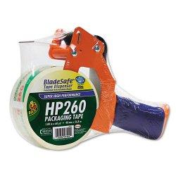 Duck - 1078566 - Bladesafe Antimicrobial Tape Gun w/Tape, 3 Core, Metal/Plastic, Orange