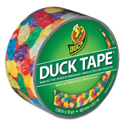 Duck - DUC282495 - Colored Duct Tape, 9 mil, 1.88 x 10 yds, 3 Core, Gummy Bears