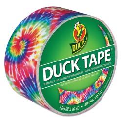 Duck - DUC283268 - Colored Duct Tape, 9 mil, 1.88 x 10 yds, 3 Core, Love Tie Dye