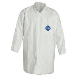DuPont - TY212S-M - Med Dupont Tyvek Lab Coat Snap Ft 5- 2 Pockets