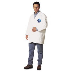 DuPont - 251-TY212S-XL - Tyvek Lab Coat, White, Snap Front, 2 Pockets, X-Large, 30/Carton