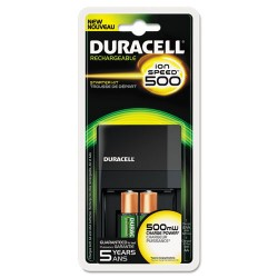 Duracell - CE14 - ION SPEED 1000 Advanced Charger, Includes 4 AA NiMH Batteries