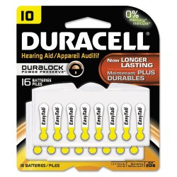 Duracell - DA10B16ZM10 - Button Cell Hearing Aid Battery, #10, 16/Pk