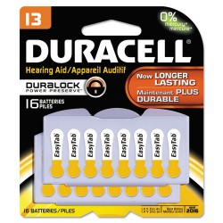 Duracell - DA13B16 - Button Cell Hearing Aid Battery #13, 16/Pk