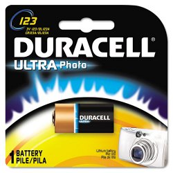Duracell - DL123ABPK - Lithium Battery, Voltage 3, Battery Size 123, 1 EA
