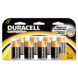 Duracell - MN14RT8Z - CopperTop Alkaline Batteries with Duralock Power Preserve Technology, C, 8/Pk