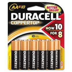 Duracell - MN1500B10Z - Battery, AA, Alkaline, 1.5 V, PK10